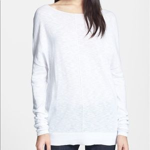 Vince. Boatneck Slub Cotton Sweater